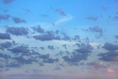 dämmerung Wolken Stockbild