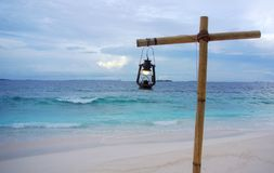 Dämmerungs-Laterne, Ozean-Spray Lizenzfreies Stockbild