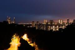 Dämmerungs-Stadt Stockfoto