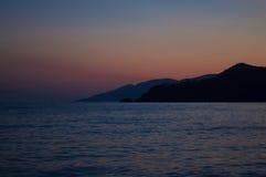 Dämmerungskap nach Sonnenuntergang Stockfotos