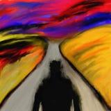Dämon auf der Straße vektor abbildung