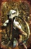 Dämon rotes gemaltes lovecraft Lizenzfreies Stockfoto