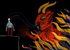 Dämon stiehlt die Seele eines Mannes Stockfotos