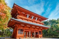 Dämon-Tor, der alte Haupteingang zu Koyasan Lizenzfreie Stockbilder