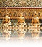 Dämon-Wächter-Statuen bei Wat Phra Kaew Stockfoto