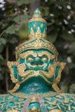 DÄMON-WÄCHTER THAILANDS LAMPANG WAT Stockfotografie
