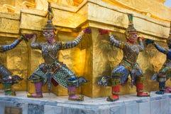 Dämonwächter in Wat Phra Kaeo Lizenzfreie Stockfotos