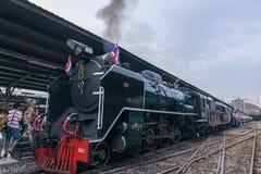 Dämpfen Sie Zug an der Reichsbahn von Thailand 119 Jahre Jahrestag Stockfoto
