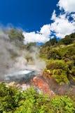 Dämpfendes geothermisches Pool Lizenzfreie Stockbilder