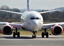 Dämpfungsregler Boeing 737 Stockfotografie