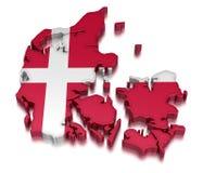 Dänemark (Beschneidungspfad eingeschlossen) Lizenzfreie Abbildung