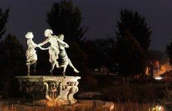 Dänemark Helsingör danserindebrønden Statue Lizenzfreies Stockfoto