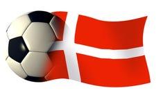 Dänemark-Kugelmarkierungsfahne stock abbildung
