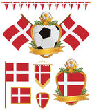 Dänemark-Markierungsfahnen vektor abbildung