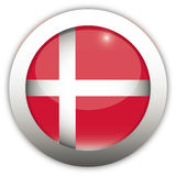 Dänemark-Markierungsfahnen-Aqua-Taste Lizenzfreies Stockbild