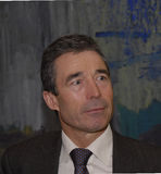 DÄNEMARK-PREMIERMINISTER MIT POLITCIANS Lizenzfreies Stockbild