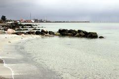 Dänemark am Strand Stockbild