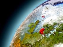 Dänemark von der Bahn von vorbildlichem Earth Stockfotos