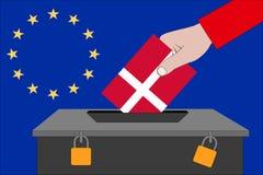 Dänemark-Wahlurne für die Europawahlen lizenzfreies stockbild