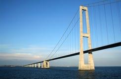 Dänemarks große Gurt-Aufhebung-Brücke Lizenzfreie Stockbilder