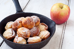 Dänische Apfelpfannkuchen Stockfotografie