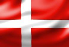 Dänische Flagge vektor abbildung