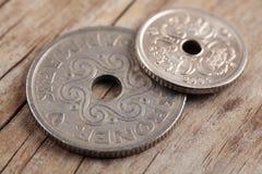 Dänische Münzen Stockfoto