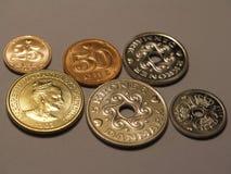 Dänische Münzen lizenzfreies stockbild