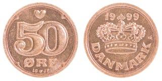 Dänische Münzen Stockfotografie