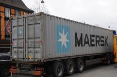 DÄNISCHE MAERSK-SCHIFFSLINIE BEHÄLTER Lizenzfreies Stockbild