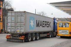 DÄNISCHE MAERSK-SCHIFFSLINIE BEHÄLTER Lizenzfreie Stockfotos