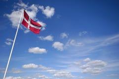 Dänische Markierungsfahne Stockbild