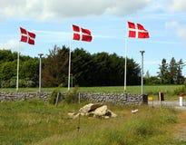 Dänische Markierungsfahnen Lizenzfreies Stockfoto