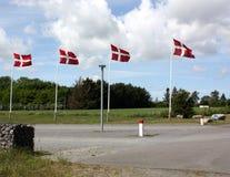 Dänische Markierungsfahnen Lizenzfreie Stockfotografie