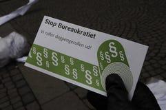 DÄNISCHE PROTEST-SAMMLUNG MIT SIGNTURES Stockfotos