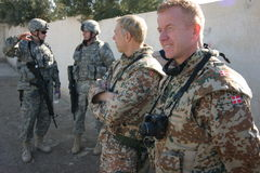 Dänische Soldaten im Irak Stockbild