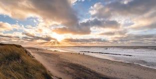 Dänische Strandküstenlinie Lizenzfreie Stockbilder