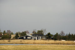 Dänische summerhouses Stockbild