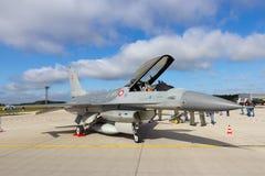 Dänischer F-16 Stockbild