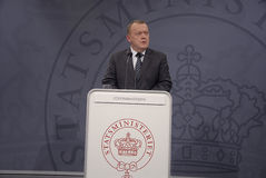 DÄNISCHER PREMIERMINISTER LARS LOKKE RASMUSSEN Lizenzfreies Stockfoto
