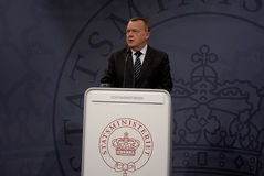 DÄNISCHER PREMIERMINISTER LARS LOKKE RASMUSSEN Lizenzfreies Stockbild