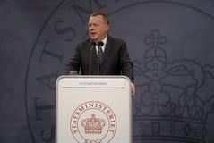 DÄNISCHER PREMIERMINISTER LARS LOKKE RASMUSSEN Lizenzfreie Stockbilder