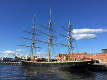 Dänisches Segelboot Stockfotografie