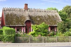 Dänisches traditionelles Haus in Keldby Lizenzfreies Stockfoto