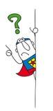 Därför superhero Arkivfoton