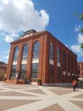 Dź för ³ för Å- Ã, Polen Gammal textilfabrik som konverteras in i köpcentrum royaltyfri foto