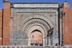 dålig dörr marrakesh för agnaou Arkivfoto
