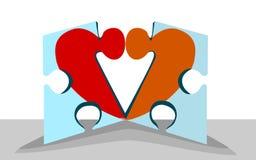 Dålig förälskelsepassform Arkivbild