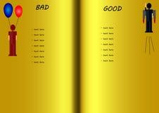 Dålig-goda lista Arkivbild