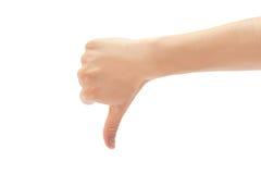 Dålig härlig kvinnlig hand eller ingen gest bakgrund isolerad white Fotografering för Bildbyråer